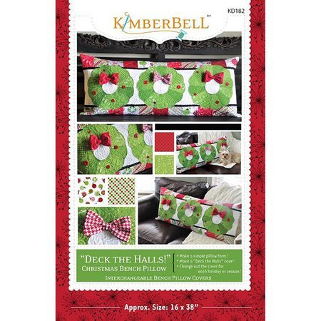 Deck the Halls Bench Pillow Pattern, KimberBell Designs
