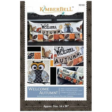 Welcome Autumn! Bench Pillow Pattern, KimberBell Designs