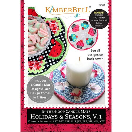 In-The-Hoop Candle Mats, Holidays & Seasons, Vol. 1, Embroidery CD