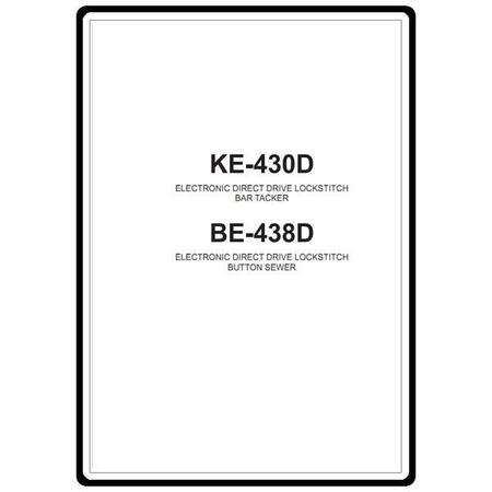 Instruction Manual, Brother KE-430D