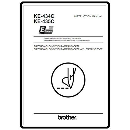 Instruction Manual, Brother KE-434C