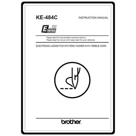 Instruction Manual, Brother KE-484C