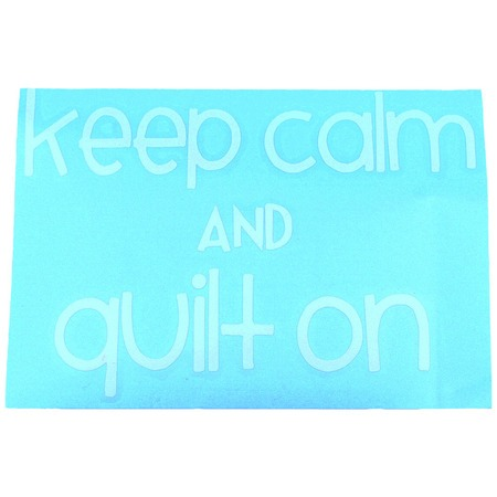 Keep Calm and Quilt On Car Decal