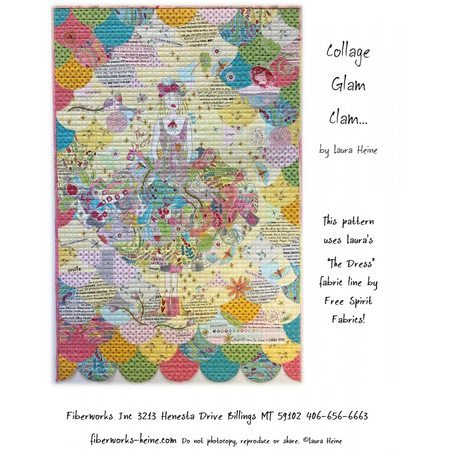Glam Clam Collage Pattern