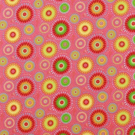 Lucky Medallion Fabric, Pink