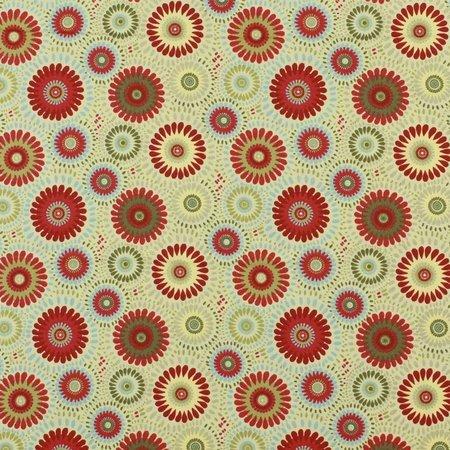 Lucky Medallion Fabric, Cream