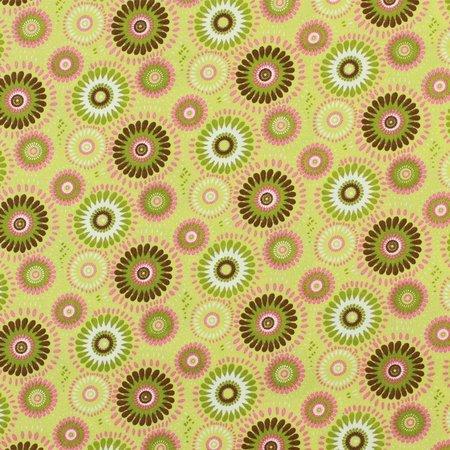 Lucky Medallion Fabric, Green