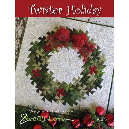 Twister Holiday Wall Quilt Pattern, Need'L Love