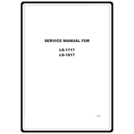Service Manual, Brother LS1817