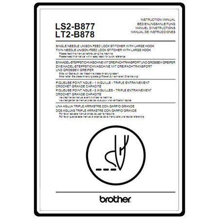 Instruction Manual, Brother LS2-B877