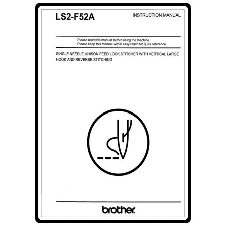 Instruction Manual, Brother LS2-F52A