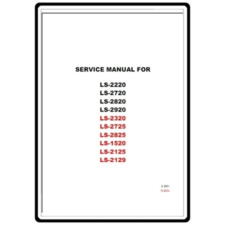 Service Manual, Brother LS2825