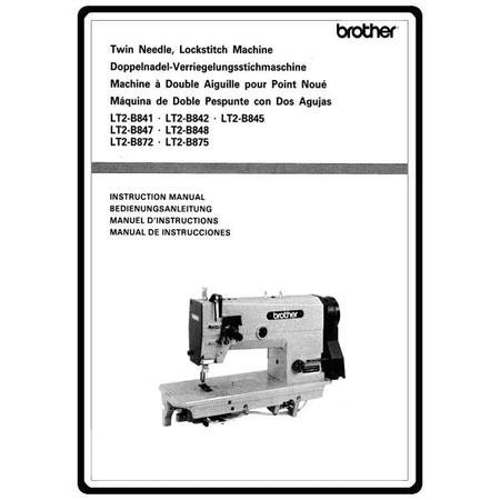 Instruction Manual, Brother Lockstitch LT2-B845