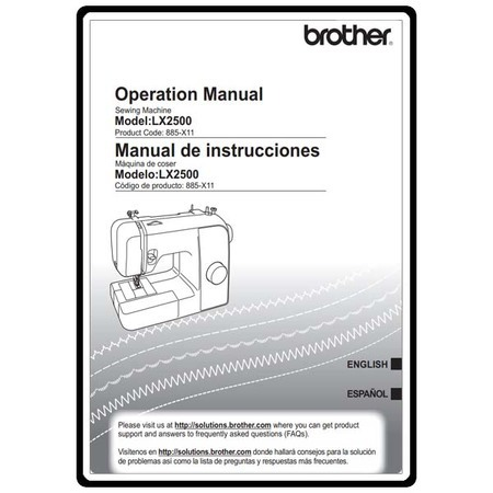 Instruction Manual, Brother LX-2500