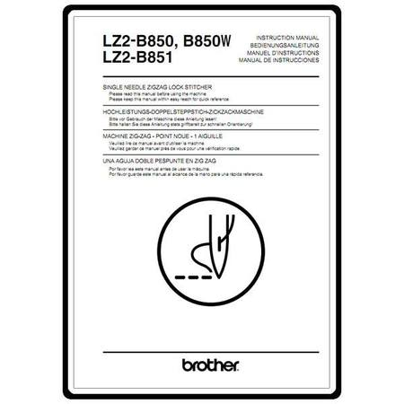 Instruction Manual, Brother LZ2-B850W