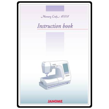 Instruction Manual, Janome MC10001