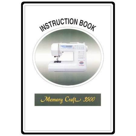 Instruction Manual, Janome MC3500