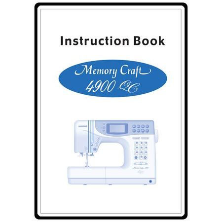 Instruction Manual, Janome MC4900QC