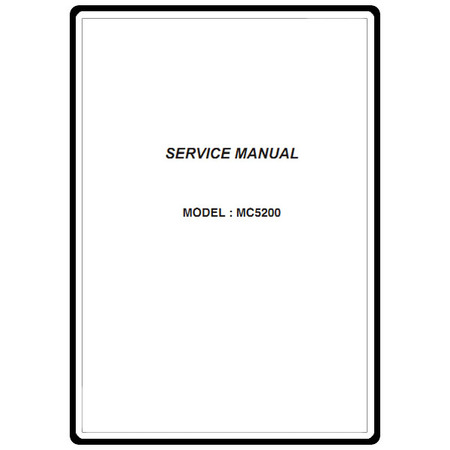 Service Manual, Janome MC5200