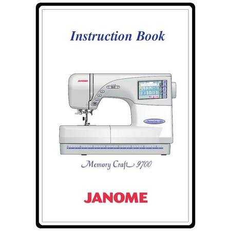 Instruction Manual, Janome MC9700