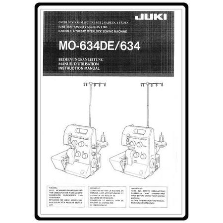 Instruction Manual, Juki MO-634DE