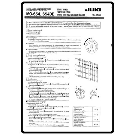 Service Manual, Juki MO-654DE