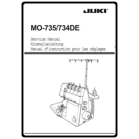 Service Manual, Juki MO-735
