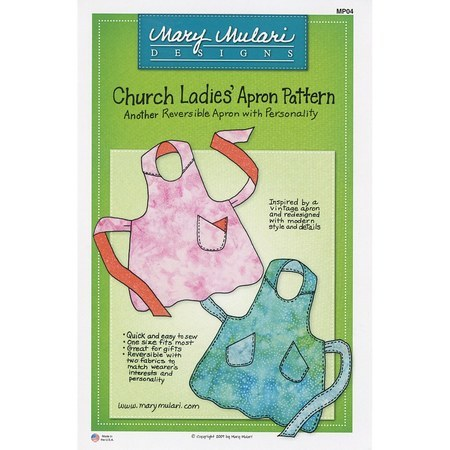 Church Ladies Apron Pattern, Mary Mulari Designs