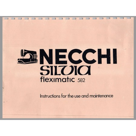 Instruction Manual, Necchi 582
