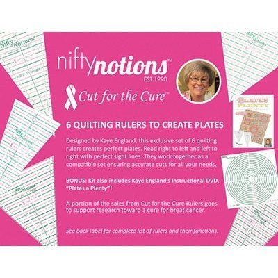 """Cut for the Cure"" Plate Ruler Collection 6 Ruler Set"
