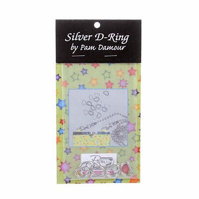 "1/2"" D-Rings, Silver, The Decorating Diva"