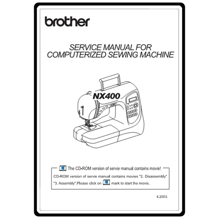 Service Manual, Brother NX400