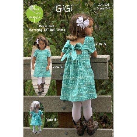 GiGi Dress Pattern with Matching Doll Dress