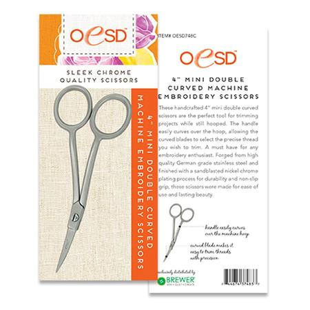 "Double Mini Curved Embroidery Scissors 4"" #OESD748C"