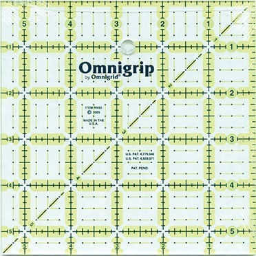 "5.5"" Square, No-Slip Ruler, Omnigrid"