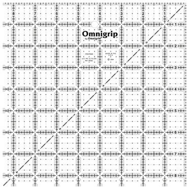 "8.5"" Square, No-Slip Ruler, Omnigrid"