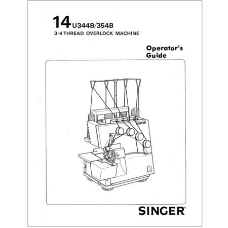 Instruction Manual, Singer 14U344B