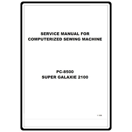 Service Manual, Brother PC8500