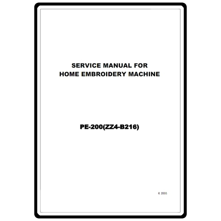Service Manual, Brother PE-200