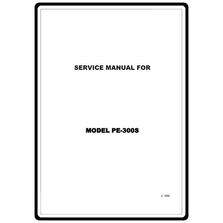 Service Manual, Brother PE300S