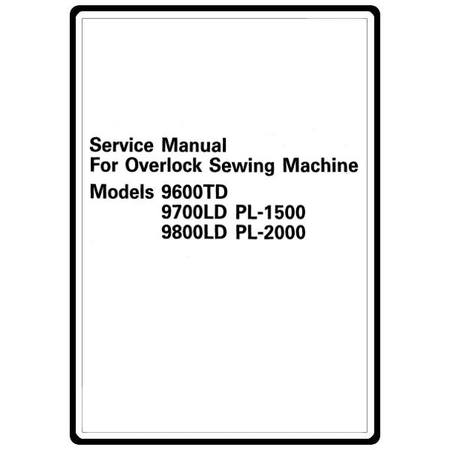 Service Manual, Brother Compact Overlock PL2000