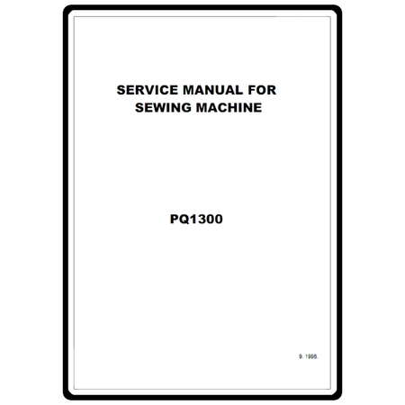 Service Manual, Brother PQ1300