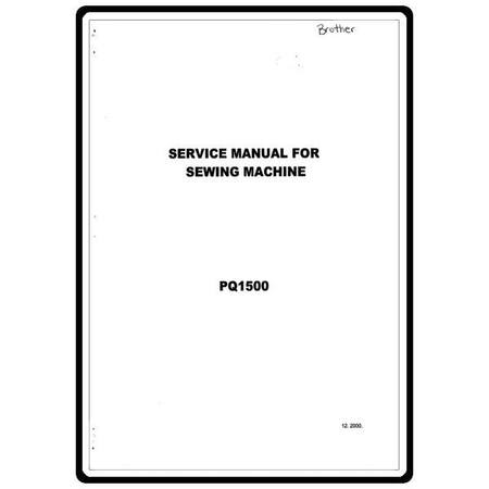 Service Manual, Brother PQ1500