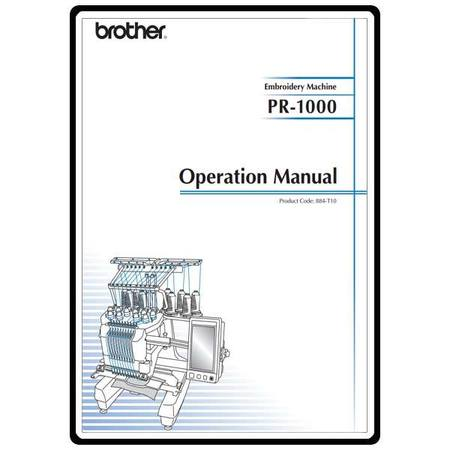 Instruction Manual, Brother PR-1000e