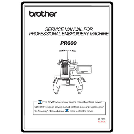 Service Manual, Brother PR-600
