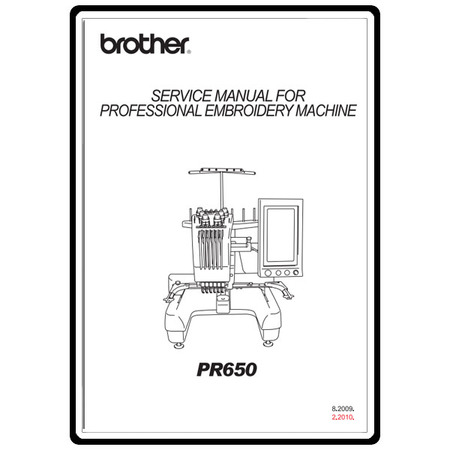 Service Manual, Brother PR-650
