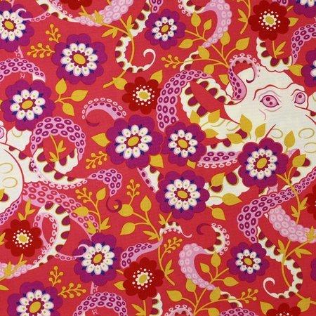 Heather Bailey, Hello Love, Octopus's Garden, Coral Fabric