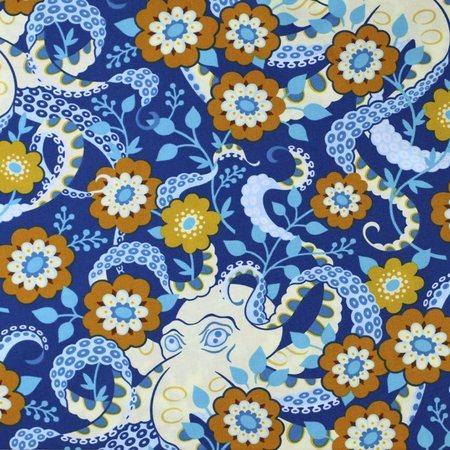 Heather Bailey, Hello Love, Octopus Garden, Midnight Fabric