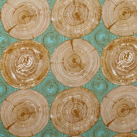 Joel Dewberry, Modernist, Tree Ring Bling, Dijon Fabric