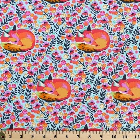 Tula Pink, Chipper, Fox Nap, Sorbet Fabric